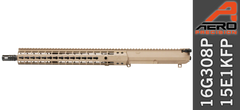 "16"" Free Float .308 WIN Complete Upper Receiver FDE"