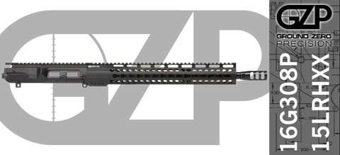 "16"" Custom Free-Floated Keymod .308 WIN AR-10 Upper Receiver (16G308P-15LRHXX) - No BCG, No Charging Handle"