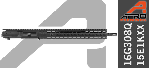"16"" Aero Precision M5E1 Enhanced .308 WIN AR10 Upper Receiver (16G308Q-15E1KFXX) - No BCG No Charging Handle"