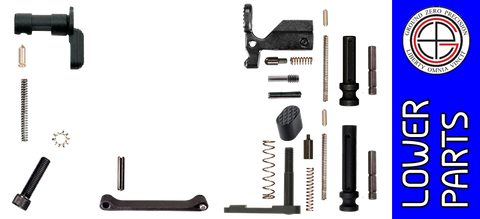 Customizable Enhanced Parts Kit for DPMS Profile AR .308 Lower Receivers - No Grip, No Fire Control Group