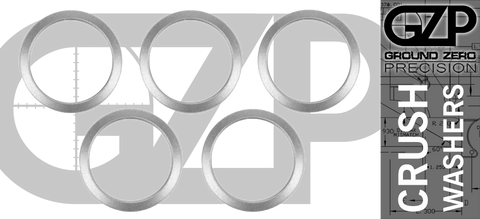"Stainless Crush Washer for 5/8"" Threaded Rifle Barrels (Pack of 5)"