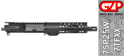 "7.5"" Free-Floated Keymod .223 / 5.56 AR-15 Upper Receiver - (75P25W-7TFXX) No BCG, No Charging Handle"