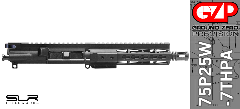AR 15 Pistol Upper SLR Rifleworks Adjustable Gas