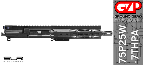"7.5"" Free-Floated KEYMOD .223 / 5.56 AR-15 Upper Receiver with SLR Rifleworks Adjustable Gas (75P25W-7THPA)"