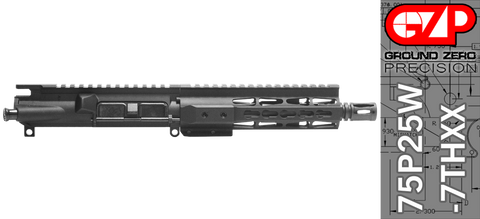 "7.5"" Free-Floated Keymod .223 / 5.56 AR-15 Upper Receiver - (75P25W-7THXX) No BCG, No Charging Handle"