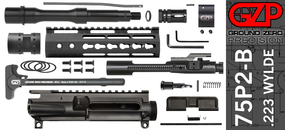 "7.5"" .223 Wylde AR-15 Upper Receiver Kit Slim"