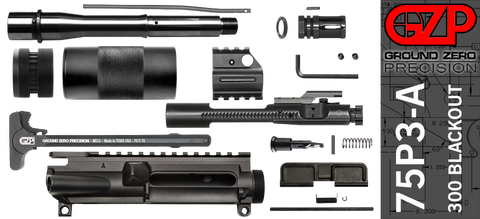"DIY 7.5"" 300 Blackout AR-15 Upper Receiver Kit with Tubular Free-Float Handguard (75P3-A)"