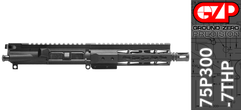 "7.5"" Free-Floated Keymod 300 Blackout AR-15 Upper Receiver (75P300-7THP)"