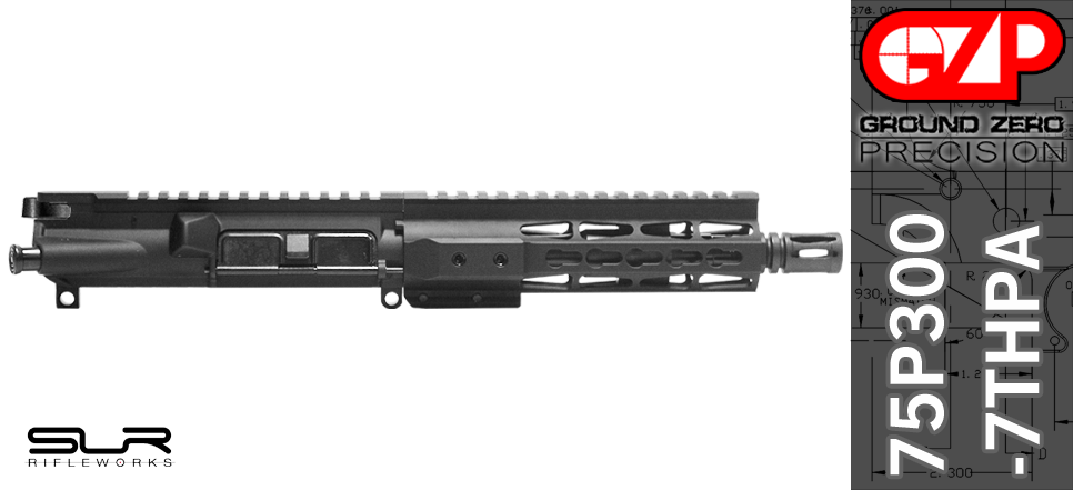 AR 15 Pistol Upper Receiver 300 Blackout SLR Rifleworks