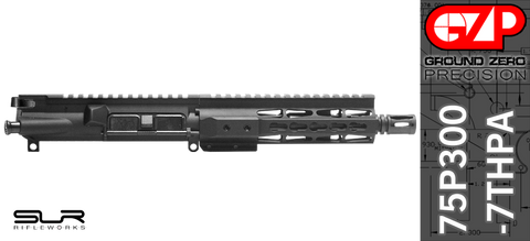 "7.5"" Free-Floated Keymod 300 Blackout AR-15 Upper Receiver with SLR Rifleworks Adjustable Gas (75P300-7THPA)"