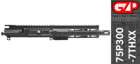 "7.5"" Free-Floated KEYMOD 300 Blackout AR-15 Upper Receiver - (75P300-7THXX) No BCG, No Charging Handle"