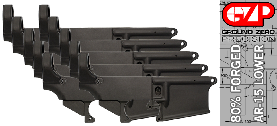 Forged 80% AR 15 Lower Receiver - 10 PACK
