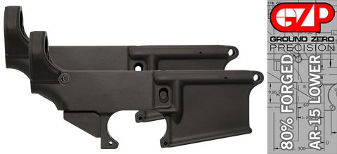 Forged 80% AR-15 Lower Receiver - Anodized - 2 PACK