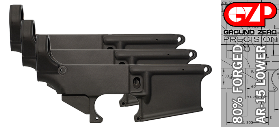 AR 15 80% Lower Receiver - 3 PACK