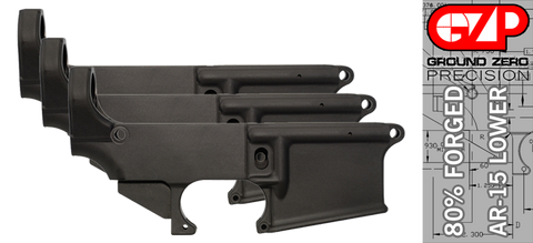 Forged 80% AR-15 Lower Receiver - Anodized - 3 PACK