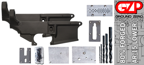 Forged 80% AR-15 Lower Receiver & Milling Jig - Anodized - 2 Pack