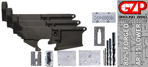 Forged 80% AR-15 Lower Receiver & Milling Jig - Anodized - 3 Pack