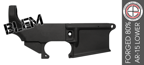 Ground Zero Precision Forged 80% AR-15 Lower Receiver (Anodized) - BLEMISHED
