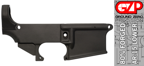 Forged 80% AR-15 Lower Receiver - Anodized