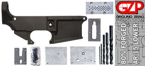 Forged 80% AR-15 Lower Receiver & Milling Jig - Anodized