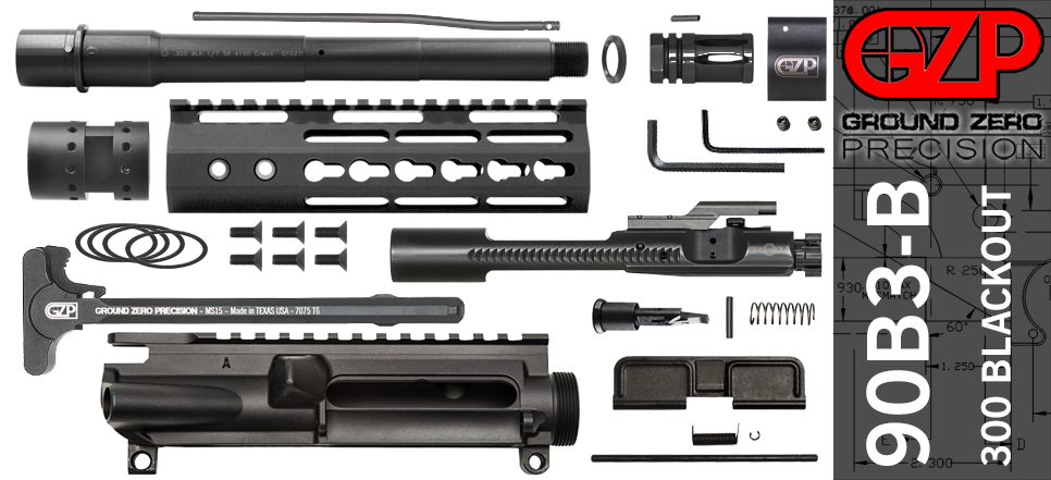 "9"" Ballistic Advantage AR-15 Upper Receiver Kit Keymod"