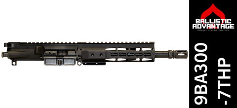 "9"" Free Floated Ballistic Advantage 300 Blackout Complete AR-15 Keymod Upper Receiver (9BA300-7THP)"