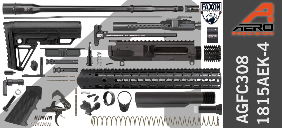 "Aero Precision 18"" Faxon .308 AR 10 Build Kit AGFC308-1815AEK-4"
