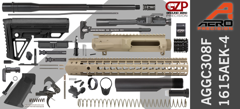 Aero Precision & Ground Zero Precision .308 WIN DPMS Profile DIY AR-10 Kit FDE