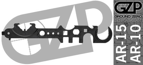 Ground Zero Precision Enhanced AR15 / AR10 Armorer's Multi Tool - Gen IV