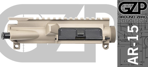 Ground Zero Precision Assembled AR-15 Upper Receiver - FDE