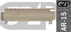 Assembled FDE AR15 Upper Receiver