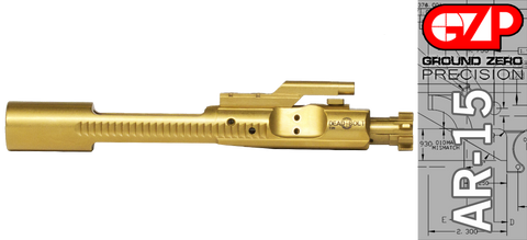 Dead Bolt GEN II +P Premium Titanium Nitride (TiN) AR-15 / M16 Bolt Carrier Group