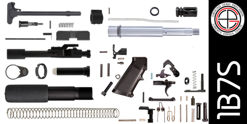 "DIY 7.5"" Stainless 300 Blackout AR-15 Pistol Project Kit (1B7S) Without Upper"