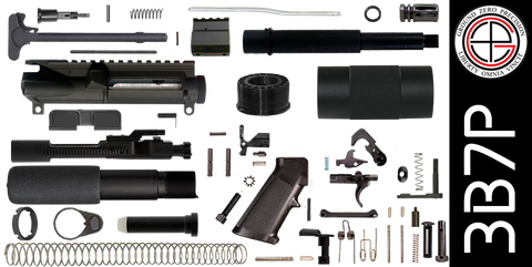 "DIY 7.5"" 300 Blackout AR-15 Pistol Project Kit with Tube Free-Float Handguard (3B7P) - FREE SHIPPING"