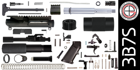 "DIY 7.5"" Stainless 300 Blackout AR-15 Pistol Project Kit with Tube Free-Float Handguard (3B7S) - FREE SHIPPING"