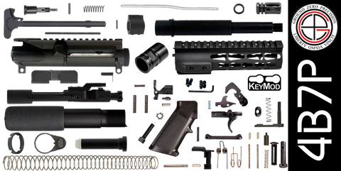 "DIY 7.5"" 300 Blackout AR-15 Pistol Project Kit with TAC-HUNTER KEYMOD Free-Float Handguard (4B7P)"