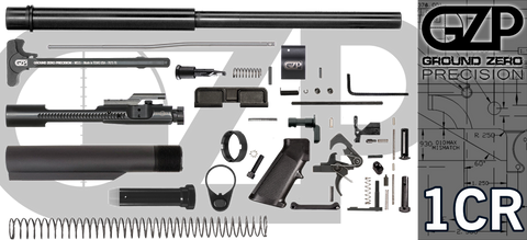 "16"" .223 / 5.56 Wylde Carbine AR-15 Project Kit (1CR) - Crowned Barrel - No Upper"