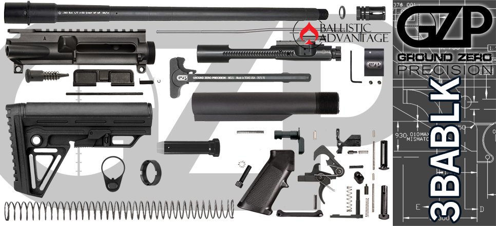 "DIY 16"" Ballistic Advantage 300 Blackout AR 15 Build Project Kit"