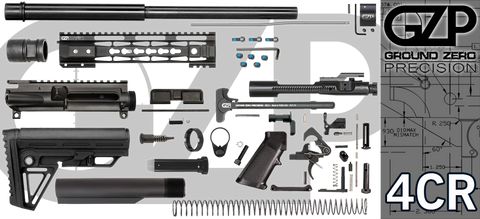 "16"" .223 / 5.56 Wylde Carbine AR-15 Project Kit W/ 10"" Tac-Hunter Keymod Handguard (4CR) - Crowned Barrel"