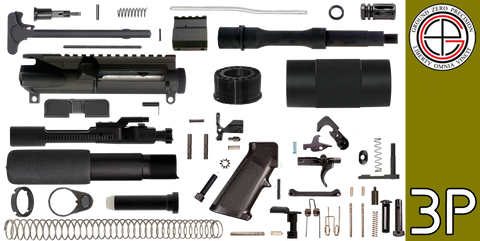 "DIY 7.5"" .223 / 5.56 AR-15 Pistol Project Kit with Tube Free-Float Handguard (3P) - FREE SHIPPING"
