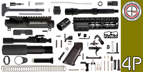 "DIY 7.5"" .223 / 5.56 AR-15 Pistol Project Kit with TAC-HUNTER KEYMOD Free-Float Handguard (4P) - FREE SHIPPING"