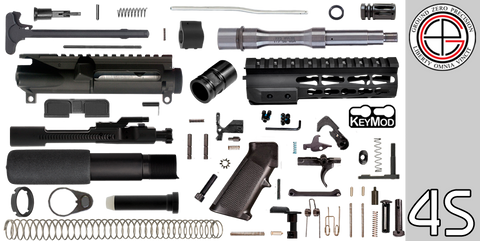"DIY 7.5"" Stainless .223 / 5.56 AR-15 Pistol Project Kit with TAC-HUNTER KEYMOD Free-Float Handguard (4S) - FREE SHIPPING"