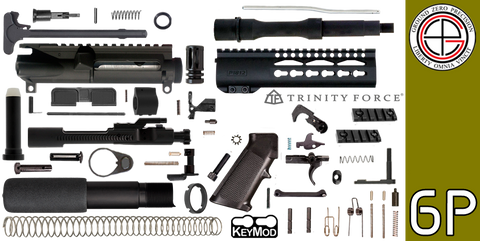 "DIY 7.5"" .223 / 5.56 AR-15 Pistol Project Kit with 7"" P1812 KEYMOD Free-Float Handguard (6P) - FREE SHIPPING"