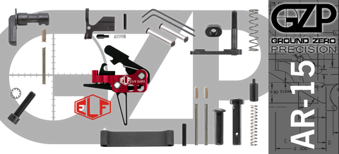 AR-15 Lower Receiver Parts Kit with Elftmann Match Flat Drop-In Trigger (GZMS15LPK-ELFMAF-1)