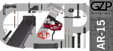 AR-15 Lower Receiver Parts Kit with Elftmann SE Curved Drop-In Trigger (GZMS15LPK-ELFSEC-2)