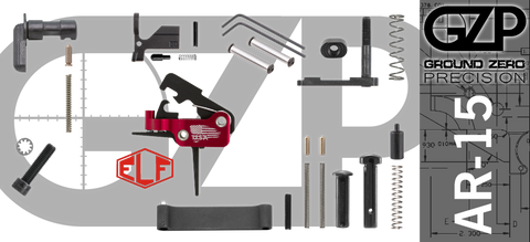 AR-15 Lower Receiver Parts Kit with Elftmann SE Flat Drop-In Trigger (GZMS15LPK-ELFSEF-1)