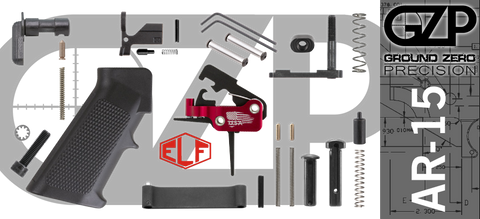 AR-15 Lower Receiver Parts Kit with Elftmann SE Flat Drop-In Trigger (GZMS15LPK-ELFSEF-2)