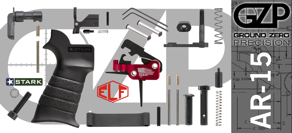 AR-15 Lower Parts Kit with Flat Elftmann SE Drop-In Trigger