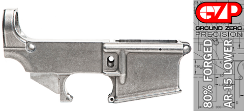 Forged 80% AR-15 Lower Receiver - Raw Aluminum