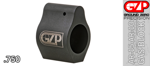 Low Profile Steel Micro AR Gas Block - .750